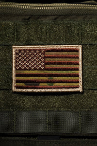 NINE LINE- CAMO GREEN AMERICAN FLAG PATCH