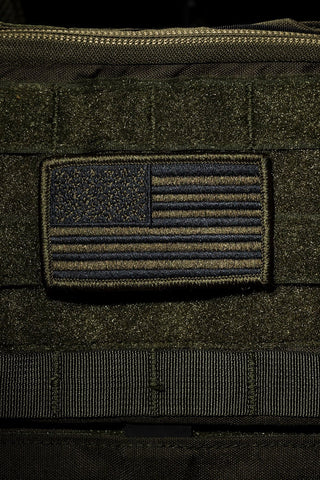 NINE LINE- BLACK & CAMO AMERICAN FLAG PATCH