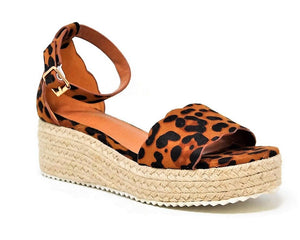 LEOPARD SCALLOPED ESPADRILLE WEDGE