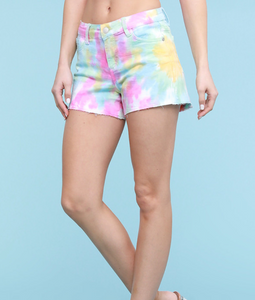 "JUDY BLUE ""COTTON CANDY"" TIE DYE SHORTS [150011]"