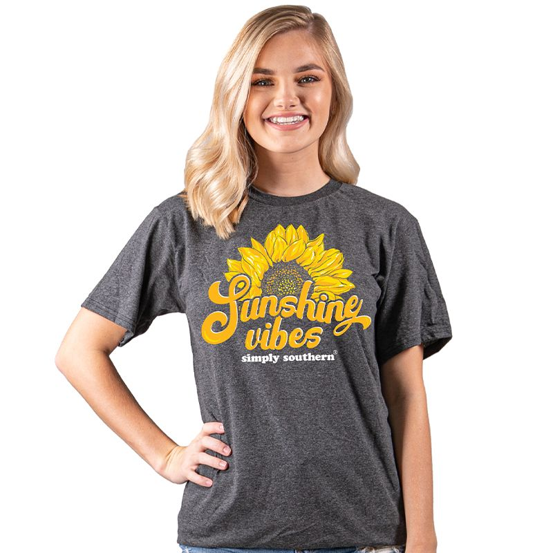 SIMPLY SOUTHERN SHORT SLEEVE - VINTG- SUNSHINE- DKHTHRGRY