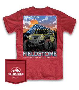 FIELDSTONE- GREEN JEEP MOUNTAIN SHORT SLEEVE