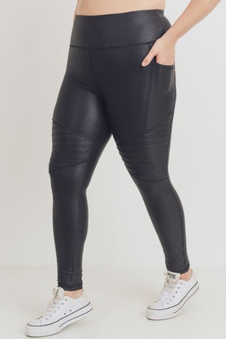 MONO-B FOIL MOTO FULL LENGTH LEGGING [BLACK] [6195]
