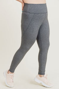 MONO-B TAPERED BAND FULL LENGTH LEGGING [GREY] [BP600]