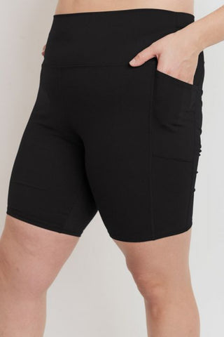 MONO-B POCKET BIKER SHORTS [BLACK] [BP602]