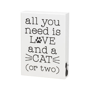 LOVE AND CAT BOX SIGN 3620