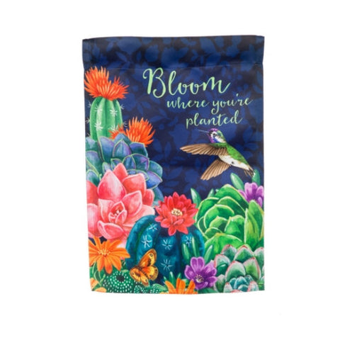 OUTDOOR GARDEN FLAG - BLOOM WHERE