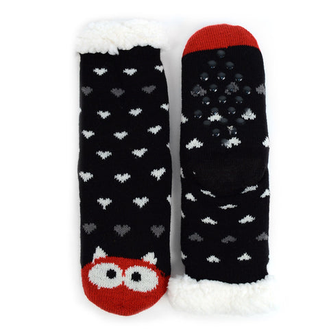 KID'S 8-12 MONSTER SHERPA SLIPPER SOCKS
