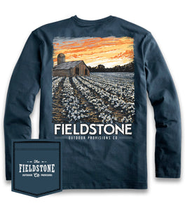 FIELDSTONE- NAVY BARN SUNSET LONG SLEEVE