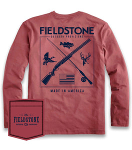 FIELDSTONE- RED HUNTING & FISHING LONG SLEEVE