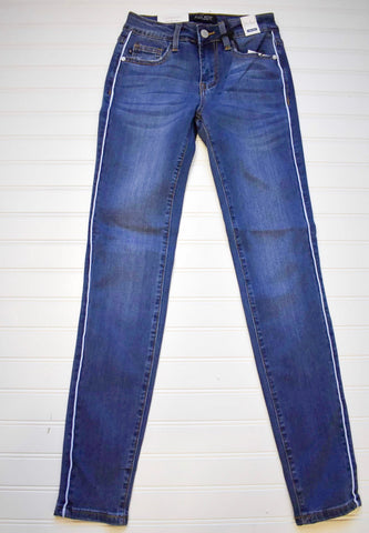 "JUDY BLUE ""JLO"" SIDE PIPING SKINNY 84165"