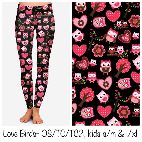 VALENTINE OWL LEGGINGS