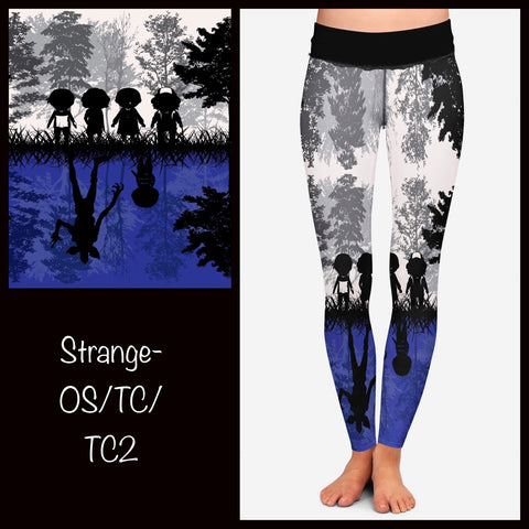 STRANGER THINGS UPSIDE DOWN LEGGINGS