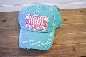 TEAL JEEP GIRL HAT