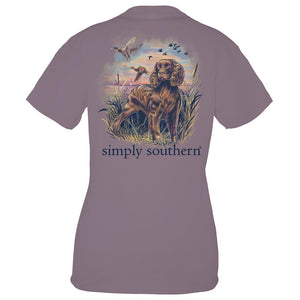 SIMPLY SOUTHERN SHORT SLEEVE YOUTH - SPANIEL PLUM