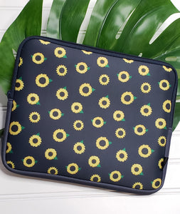 SIMPLY SOUTHERN  PLANNER CASE - BLACK SUNFLOWER
