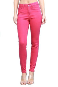 "JUDY BLUE ""COTTON CANDY"" FUCHSIA HIGH WAIST SKINNY JEAN [84195]"