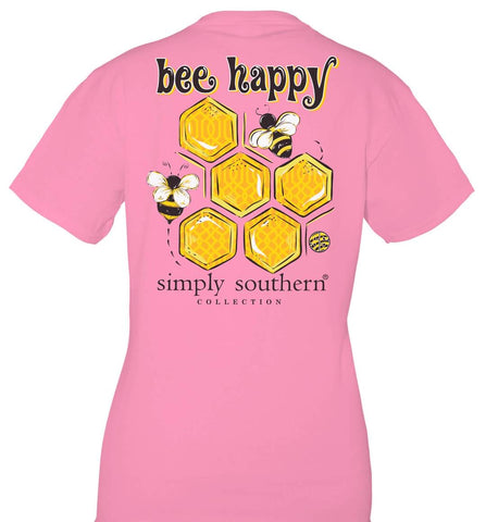SIMPLY SOUTHERN SHORT SLEEVE YOUTH - BEEHAPPY