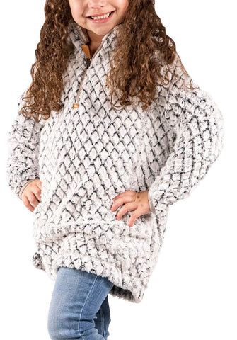 SIMPLY SOUTHERN YOUTH SIMPLY FUZZY- HEATHER GREY