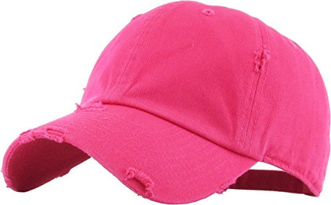 HOT PINK VINTAGE DISTRESSED HAT