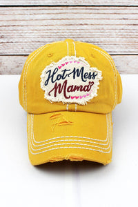 MUSTARD HOT MESS MAMA HAT
