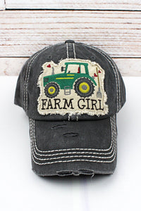 BLACK FARM GIRL HAT