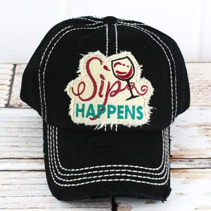 BLACK SIPS HAPPEN HAT