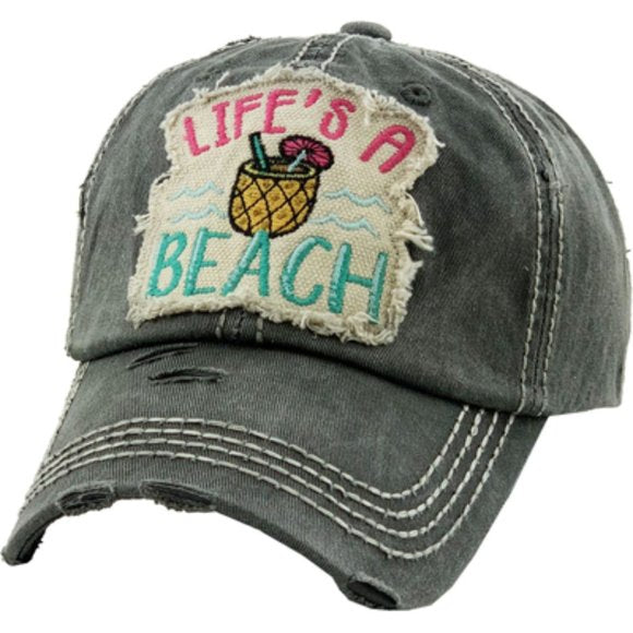 BLACK LIFES A BEACH HAT