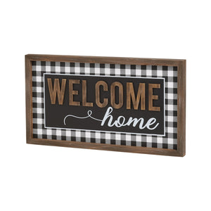 WELCOME HOME 3D FRAMED SIGN 7518