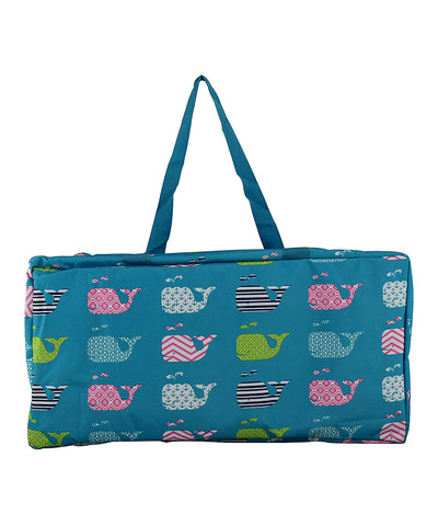 LIGHT BLUE WHALE UTILITY TOTE