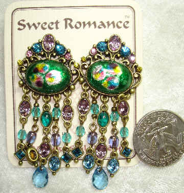 Sweet Romance Clip Earrings