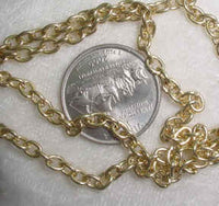 #107a - Gold Plate Chain 48""
