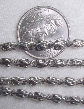 #107ee - Silver Plated Chain 36""