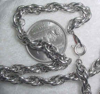 #107f - Silver Plated Chain 24""