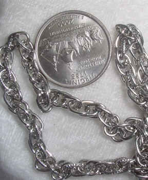 #107g - Silver Plated Chain 36""