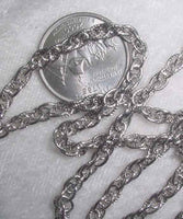 #107m - Silver Plated Chain 36""