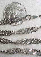 #107r - Silver Plated Chain 24""
