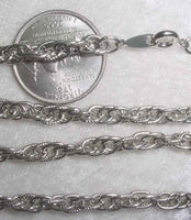 #107t - Silver Plated Chain 24""