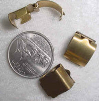 #111 - 12mm Brass Foldover Clasps, 5 Pieces