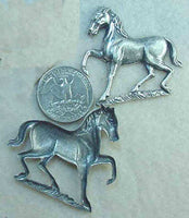#142s - Horse Stamping Accent Piece