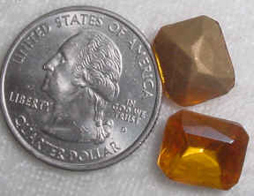 #232 - 12x10mm Glass Foil Back Octagon Stone, 2 Pieces