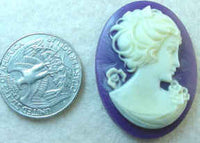 #236 - 40x30mm Molded Cameo, 1940's