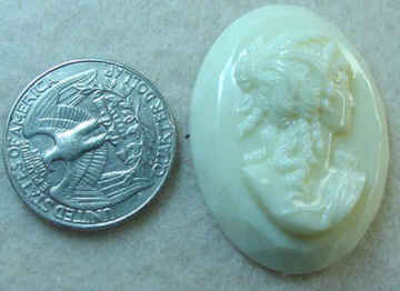 #237 - 40x30mm Molded Cameo, 1940's