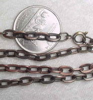 #245d - Victorian Look Antique Finish Chain 24""