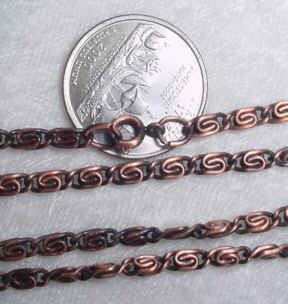 #245f - Victorian Look Antique Finish Chain 24""