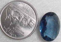 #253blue - Vintage Glass Stone  12x18mm