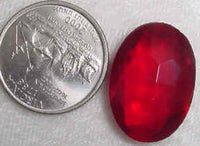 #253red - Vintage Glass Stone 18x24mm