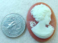 #258 - 40x30mm Vintage Molded Cameo