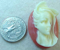 #275 - 40x30mm Vintage Molded Cameo