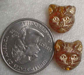 #316 - 11x12mm Czech Glass Cat Bead